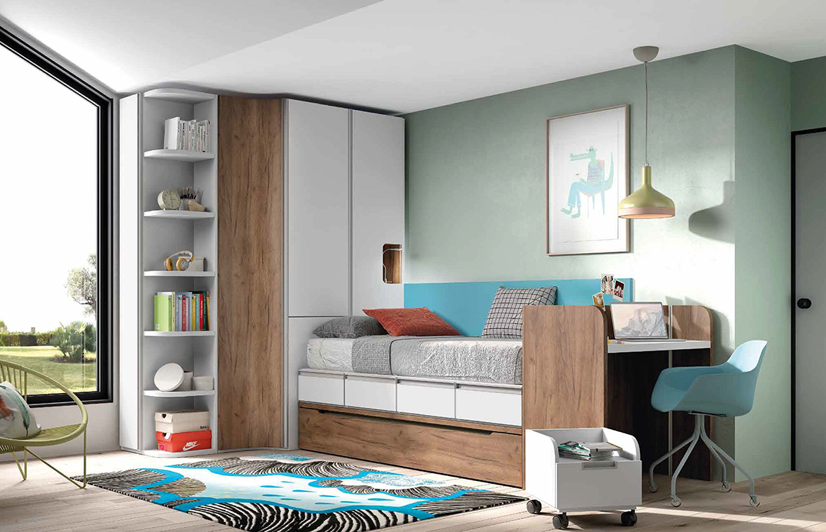http://www.munozmuebles.net/nueva/catalogo/juveniles-macizos.html - Muebles de  pasillo modernos con fotos