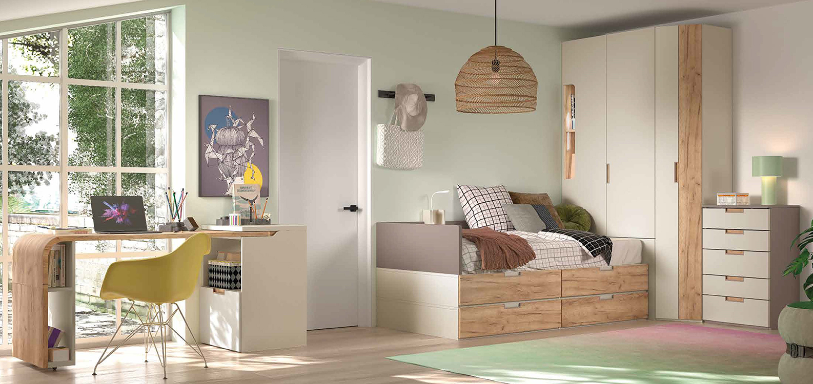 http://www.munozmuebles.net/nueva/catalogo/juveniles-macizos.html - Foto con  muebles para jóvenes