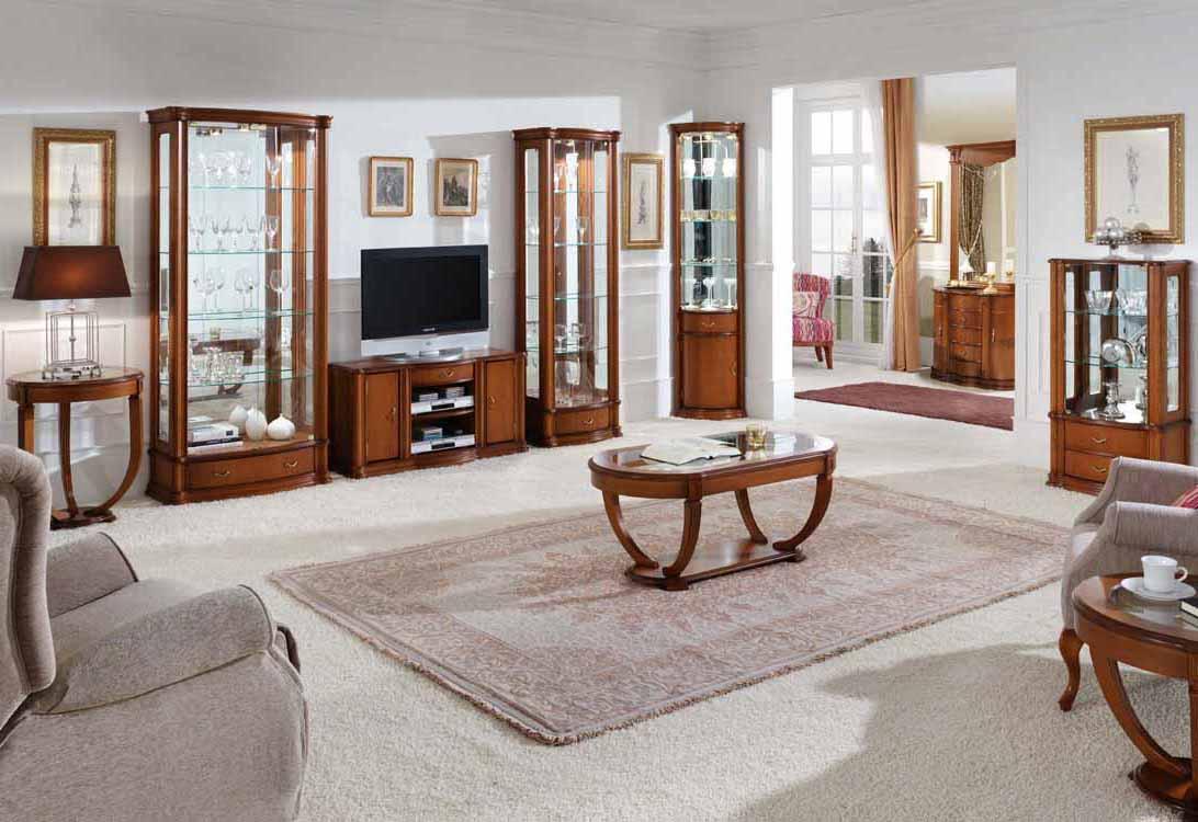 Muebles sal n blanco lacado for Muebles de salon blancos clasicos
