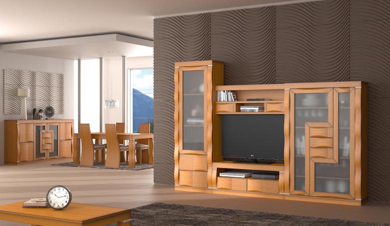 muebles de salón color caoba
