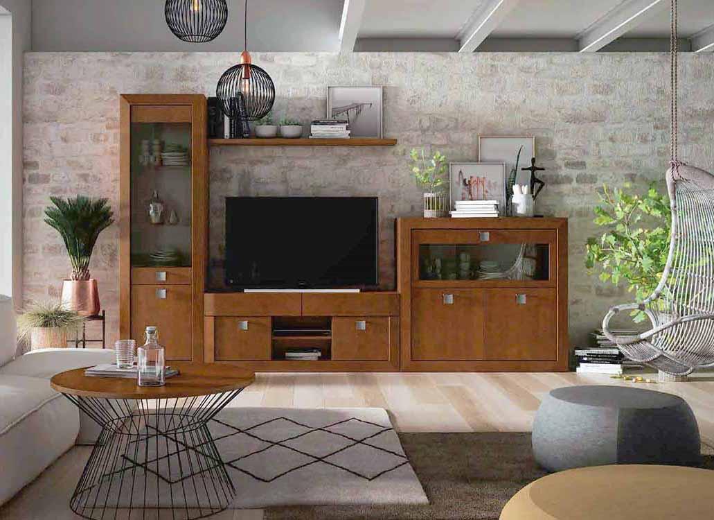 En Salones Clásicos y Rústicos aparadores, vitrinas, mesas y sillas