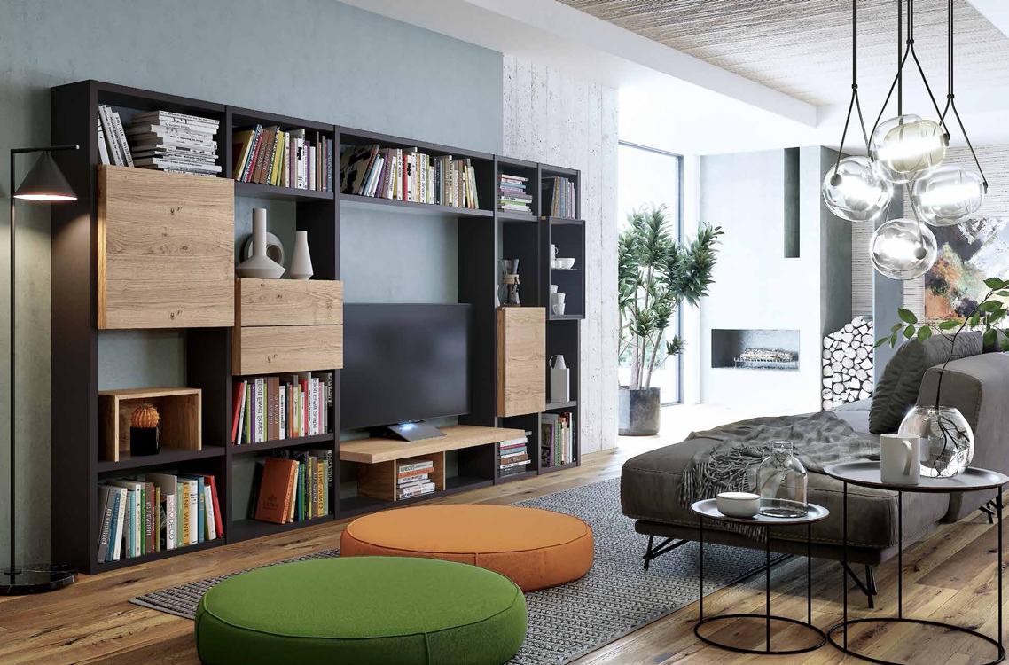 Apilables de madera for Modelos de muebles de salon