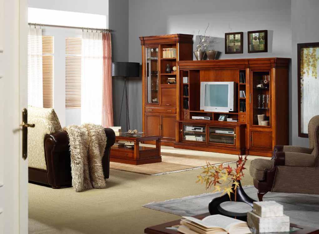 Mesas en madera maciza for Muebles de salon blancos clasicos