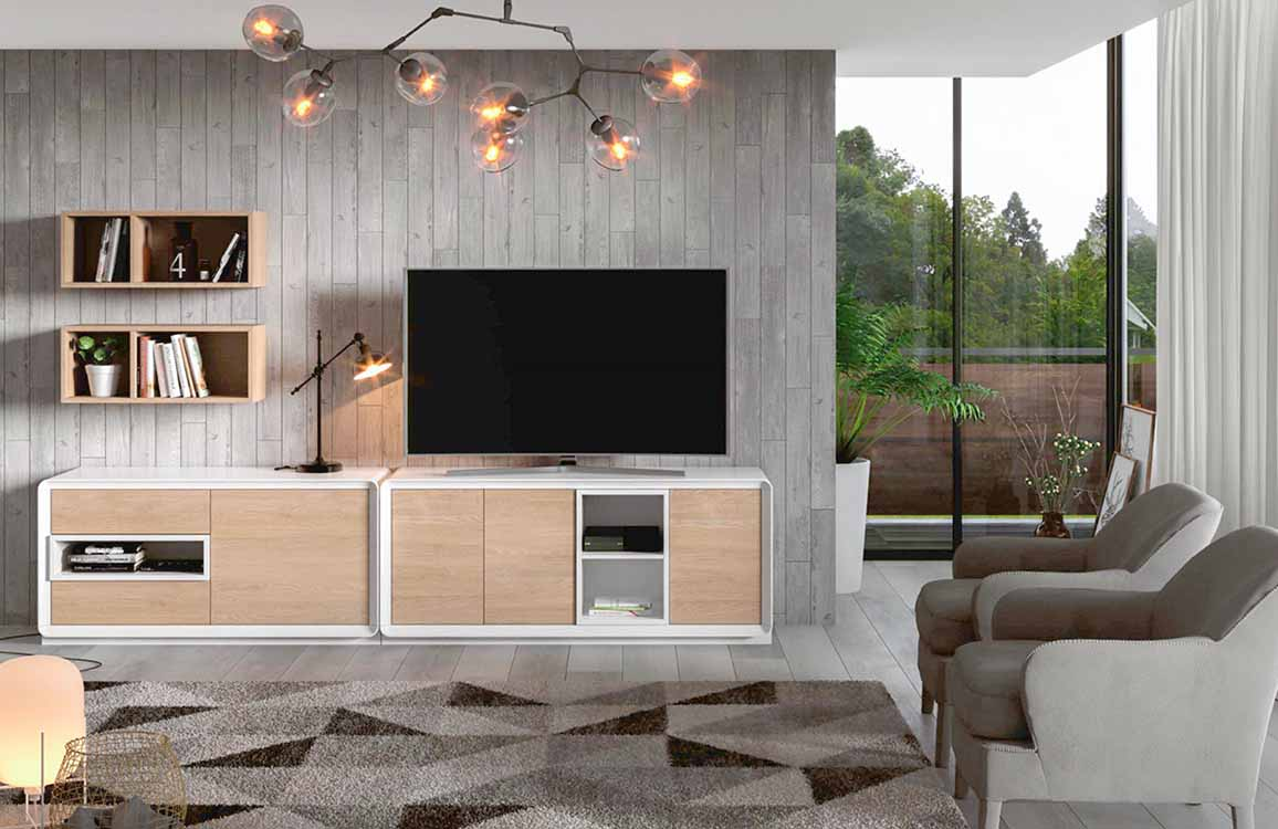 Estanter as blancas for Precios de salones completos