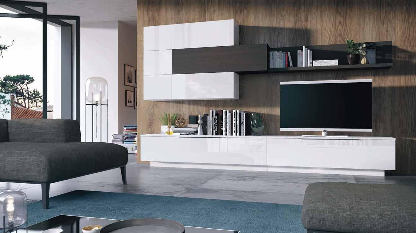 Muebles de sal n en madera maciza for Salones de madera modernos