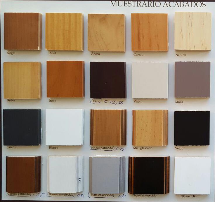 Colores para este catálogo