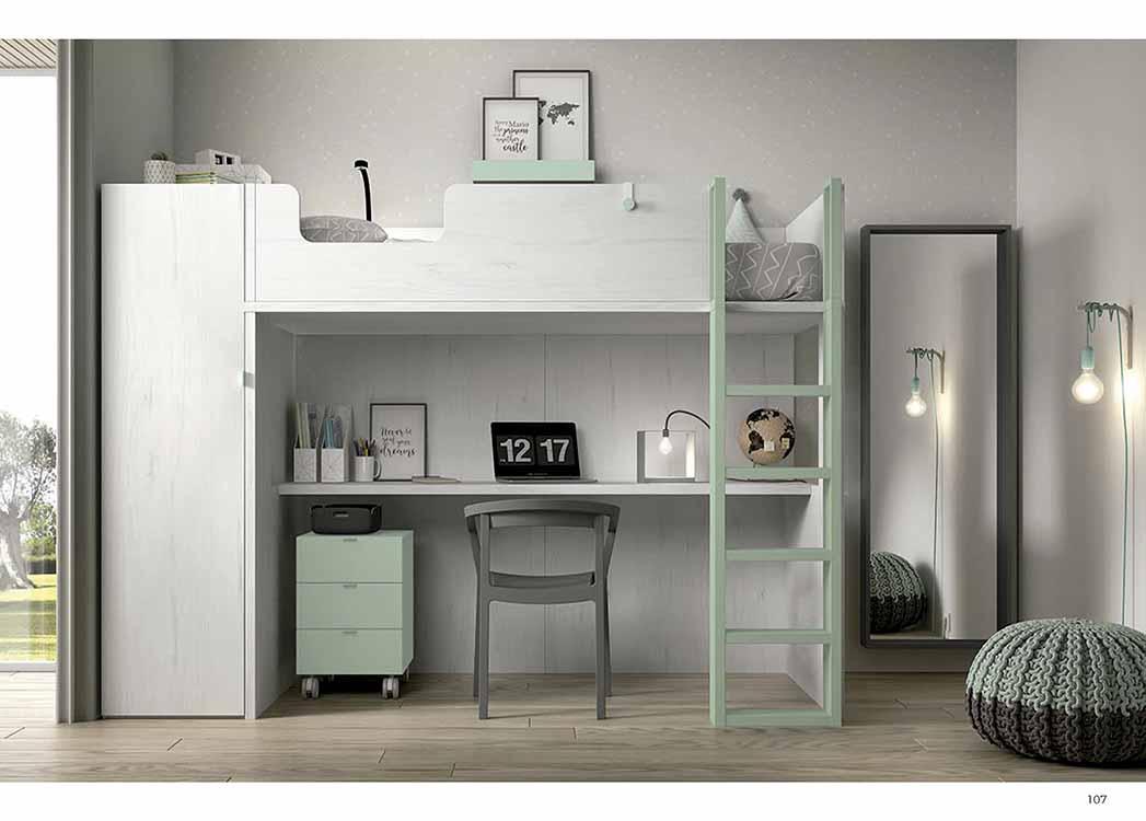 http://www.munozmuebles.net/nueva/catalogo/juveniles-macizos.html - Establecimientos  de muebles de color rosa palo